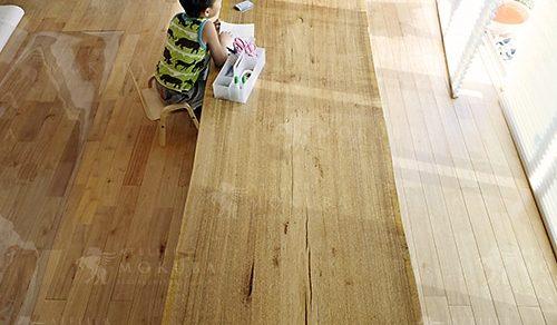 スリランカウォールナット一枚板ダイニングテーブル