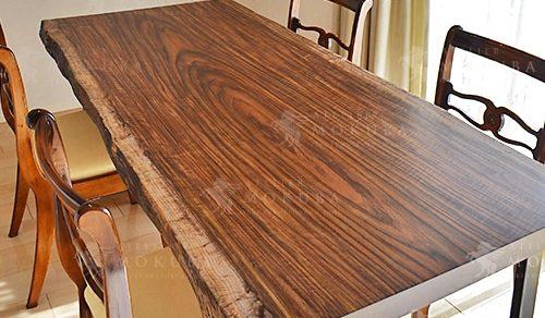 オバンコール一枚板ダイニングテーブル