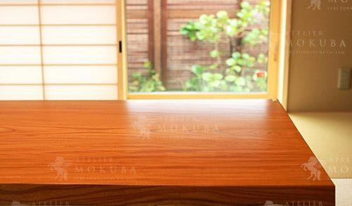 ケヤキ、ブビンガ、ヤマザクラ、ボセ一枚板テーブル、他