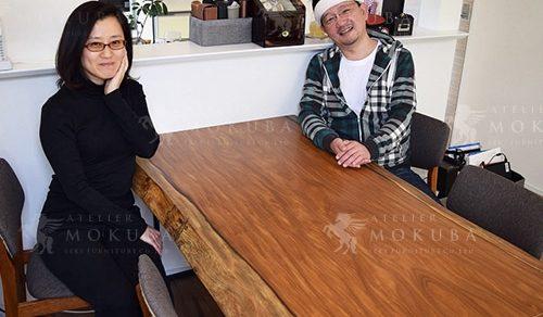 アサメラ一枚板ダイニングテーブル
