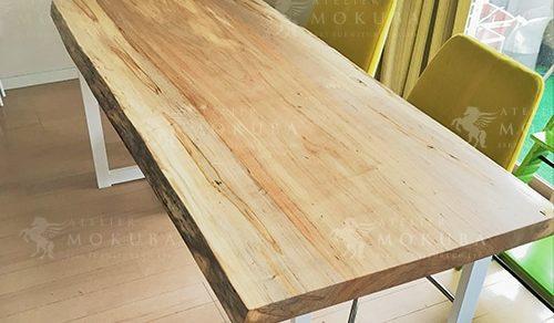 ソフトメープル一枚板ダイニングテーブル