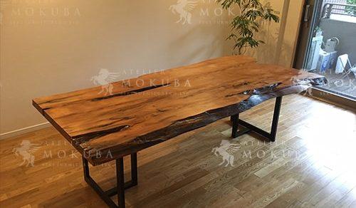 屋久杉一枚板ダイニングテーブル