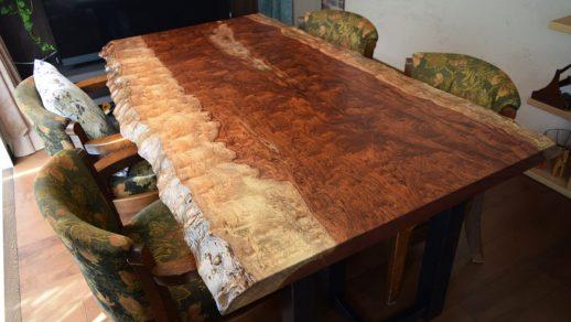 ブビンガダイニングテーブル