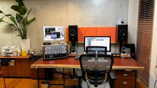 パドック レコーディングスタジオデスク