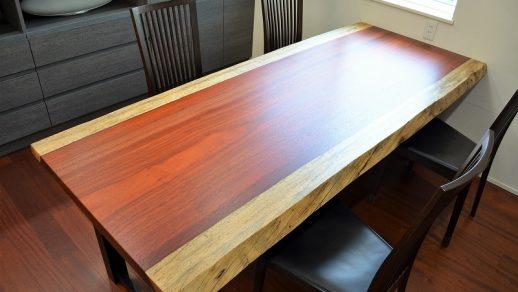 パドック 一枚板 ダイニングテーブル