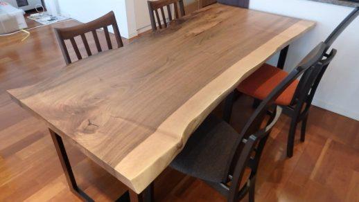 ヨーロピアンウォールナット 一枚板 ダイニングテーブル