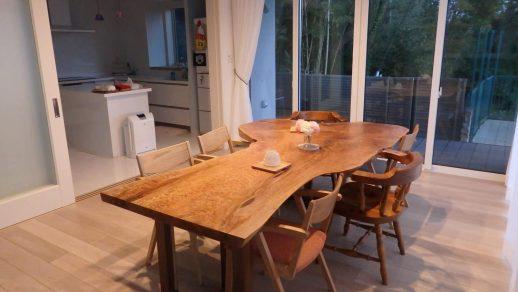 ビックリーフメープル 一枚板 ダイニングテーブル
