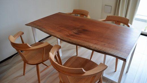 サペリ 一枚板 ダイニングテーブル