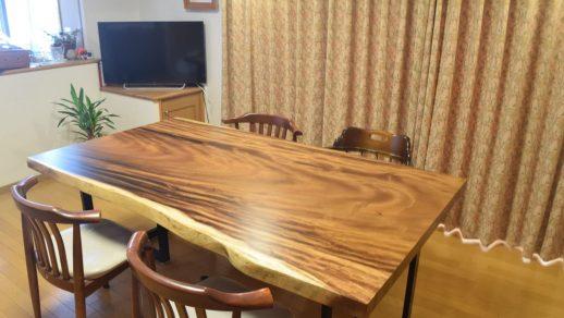モンキーポッド 一枚板ダイニングテーブル