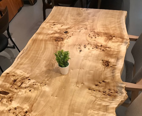 ポプラ一枚板ダイニングテーブル