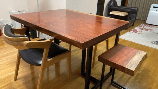 ブビンガのある食卓