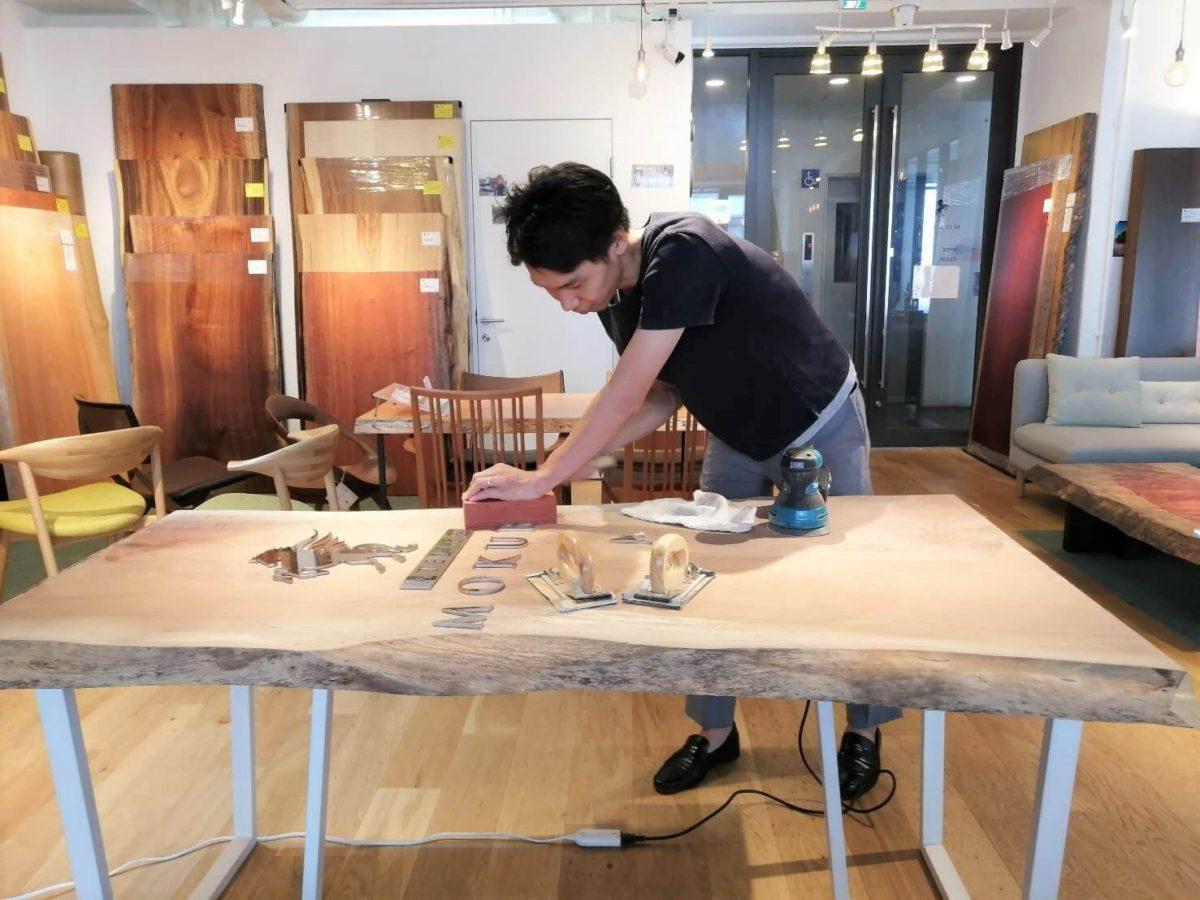 100年続く家具作り体験、進行中!